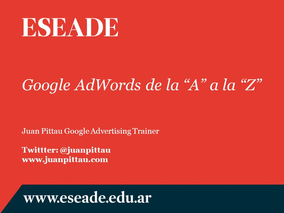 Google AdWords de la A a la Z