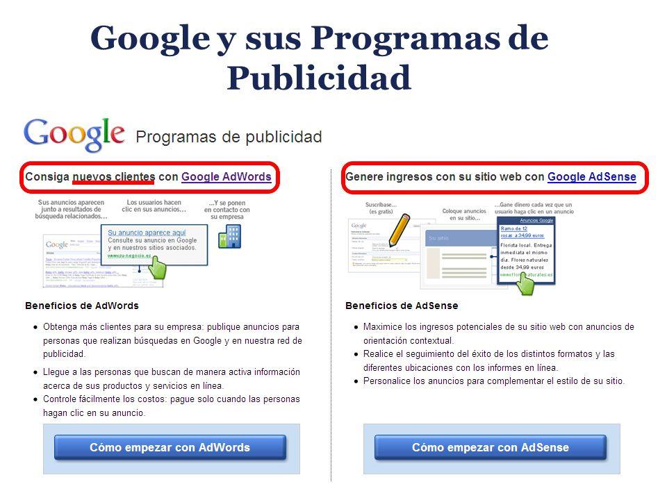 Google y sus Programas de Publicidad