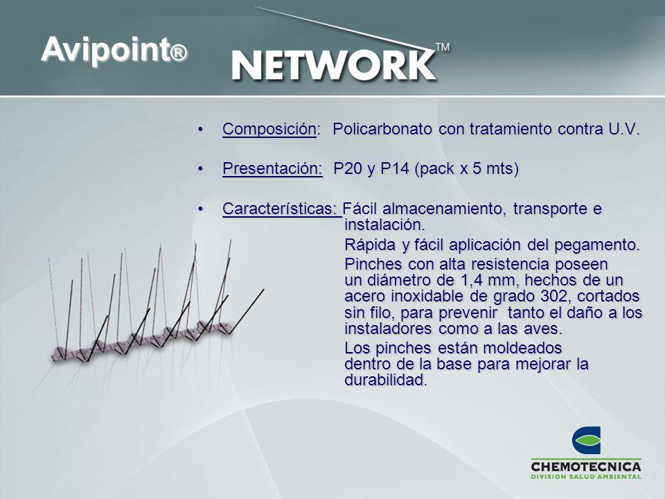 Avipoint® Composición: Policarbonato con tratamiento contra U.V.