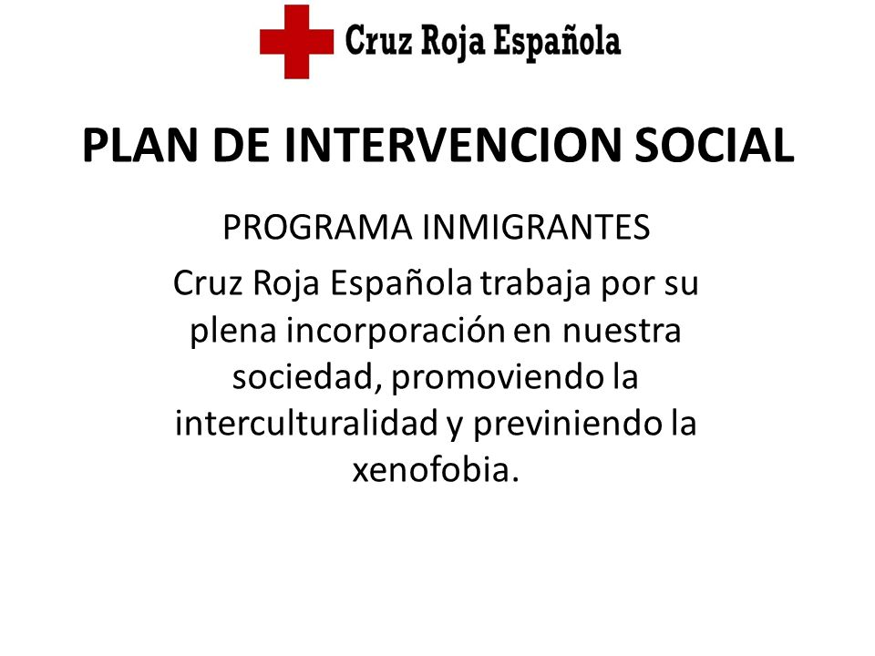 PLAN DE INTERVENCION SOCIAL