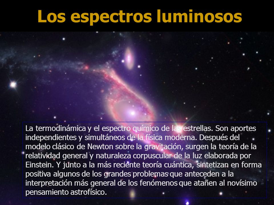 Los espectros luminosos