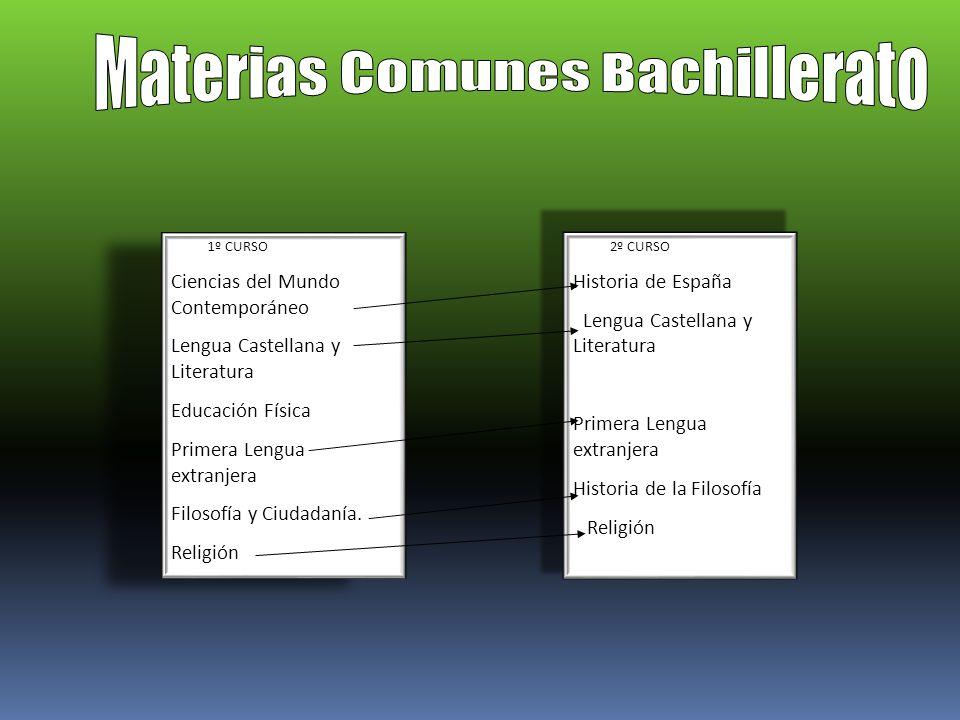 Materias Comunes Bachillerato