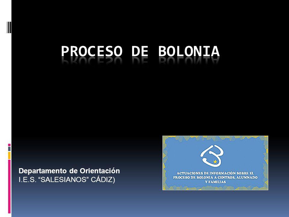 PROCESO DE BOLONIA Departamento de Orientación