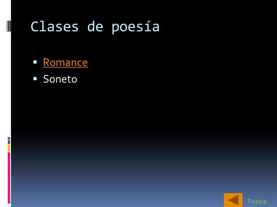 Clases de poesía Romance Soneto Poesía