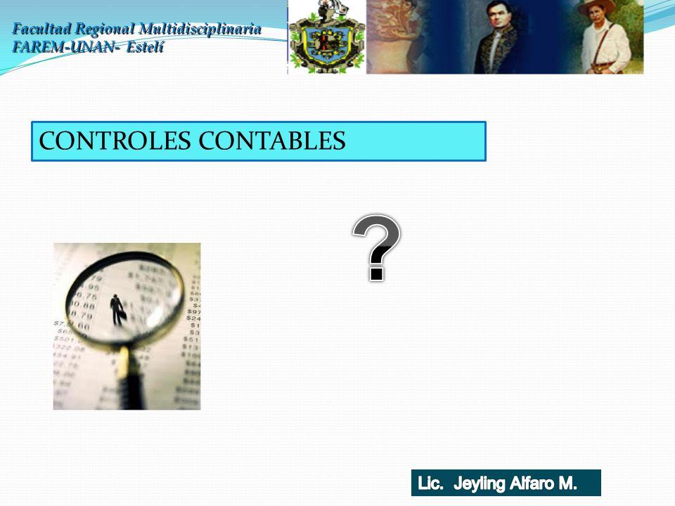CONTROLES CONTABLES Lic. Jeyling Alfaro M.