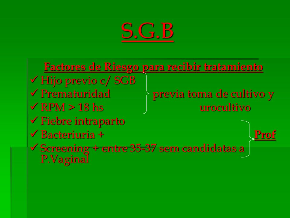 Factores de Riesgo para recibir tratamiento