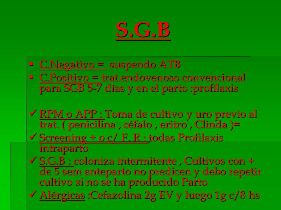 S.G.B C.Negativo = suspendo ATB