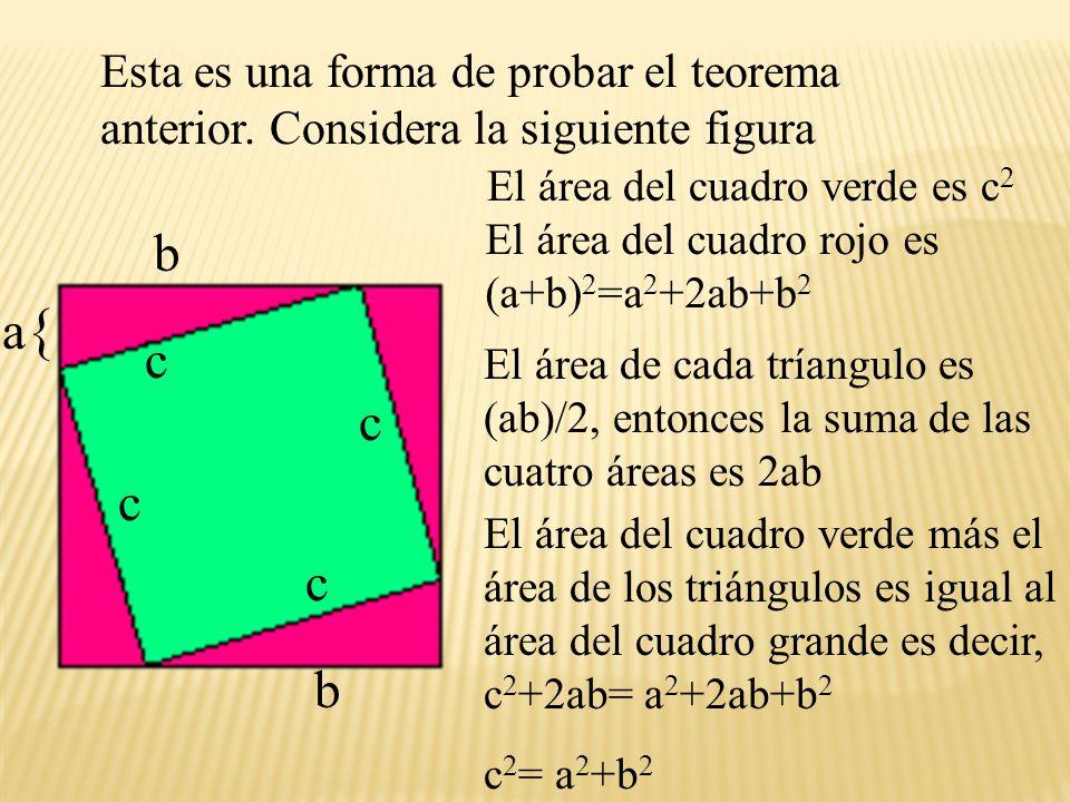 Esta es una forma de probar el teorema anterior