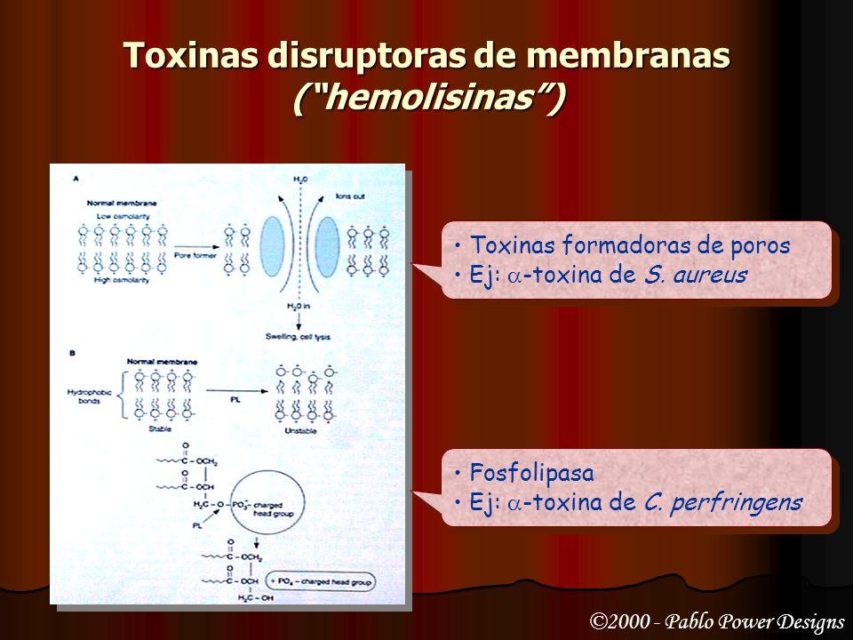 Toxinas disruptoras de membranas ( hemolisinas )