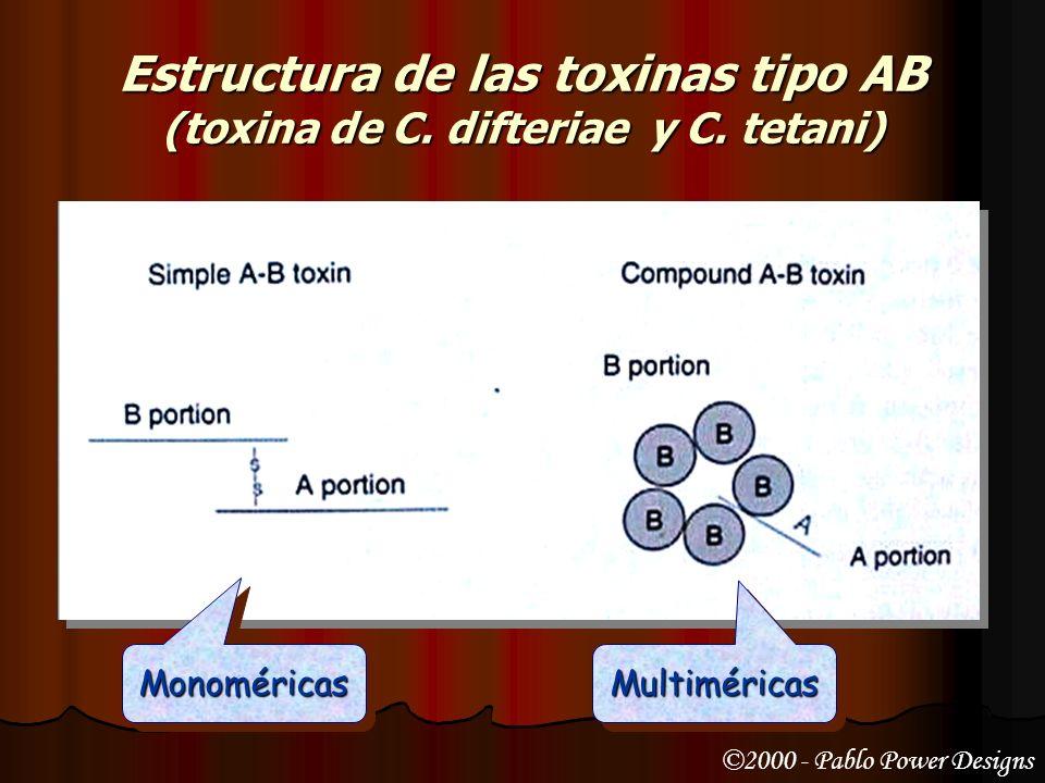 Estructura de las toxinas tipo AB (toxina de C. difteriae y C. tetani)