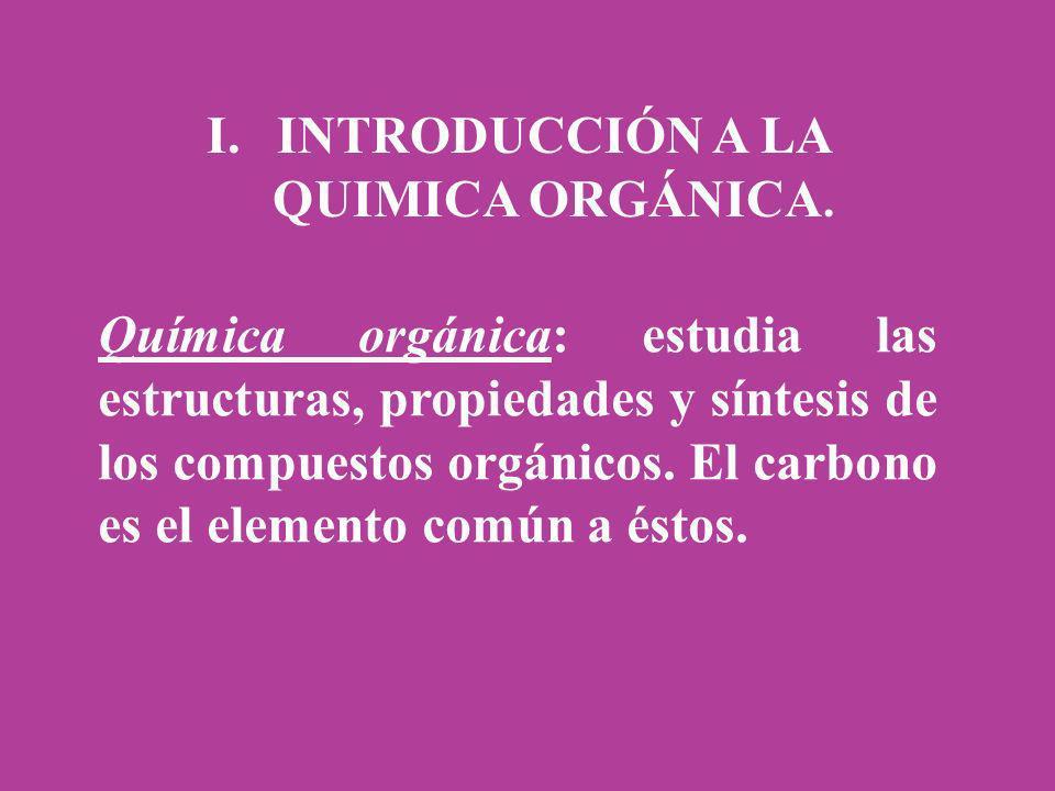 INTRODUCCIÓN A LA QUIMICA ORGÁNICA.