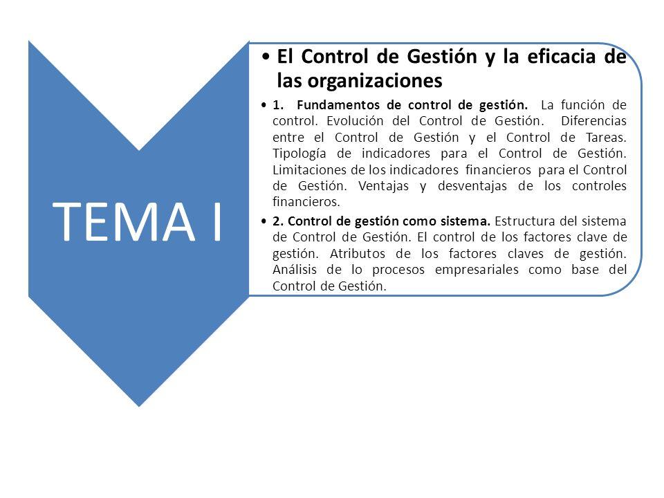 El Control de Gestión y la eficacia de las organizaciones