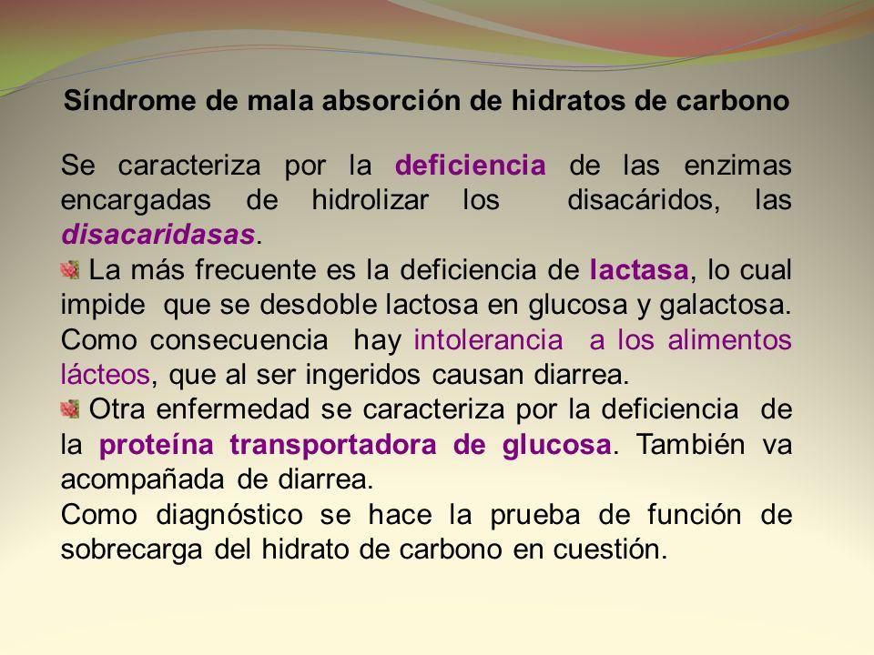 Síndrome de mala absorción de hidratos de carbono