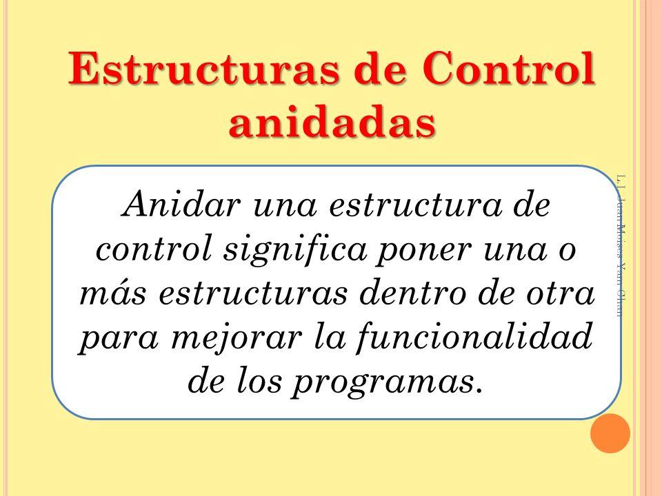 Estructuras de Control anidadas
