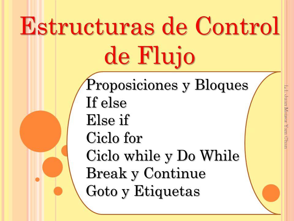 Estructuras de Control de Flujo