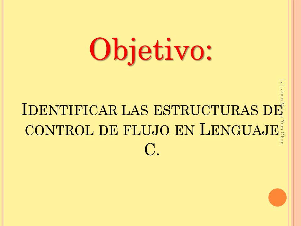 Identificar las estructuras de control de flujo en Lenguaje C.