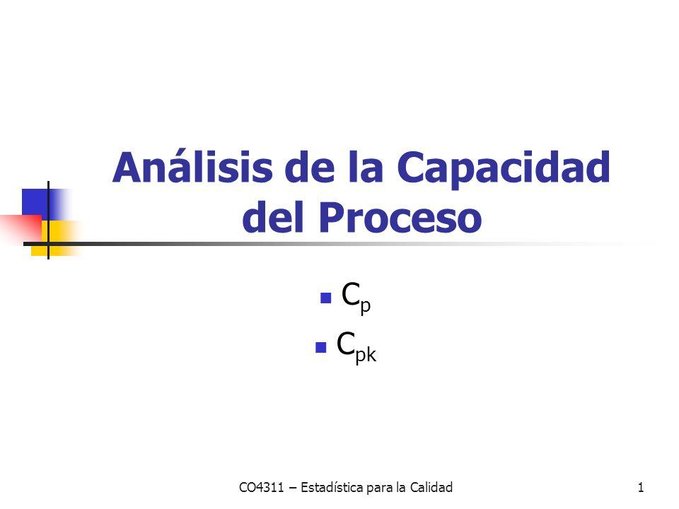 Análisis de la Capacidad del Proceso