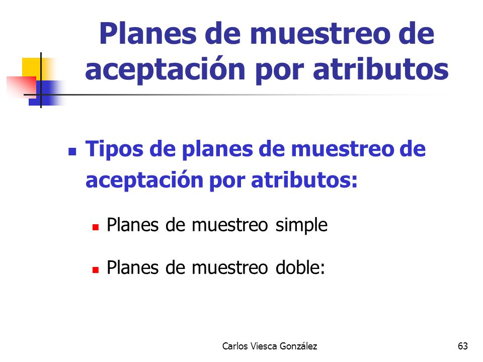 Planes de muestreo de aceptación por atributos