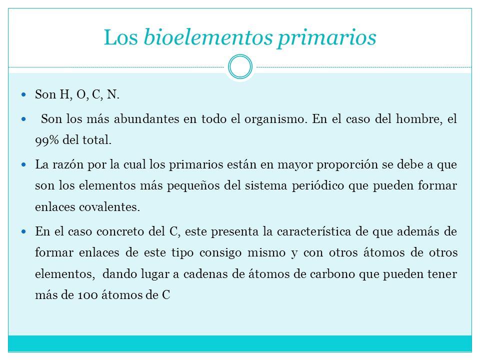 Los bioelementos primarios