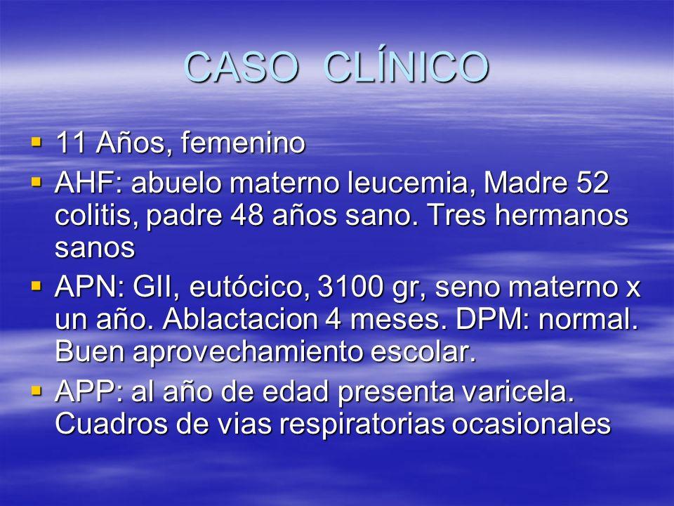 CASO CLÍNICO 11 Años, femenino