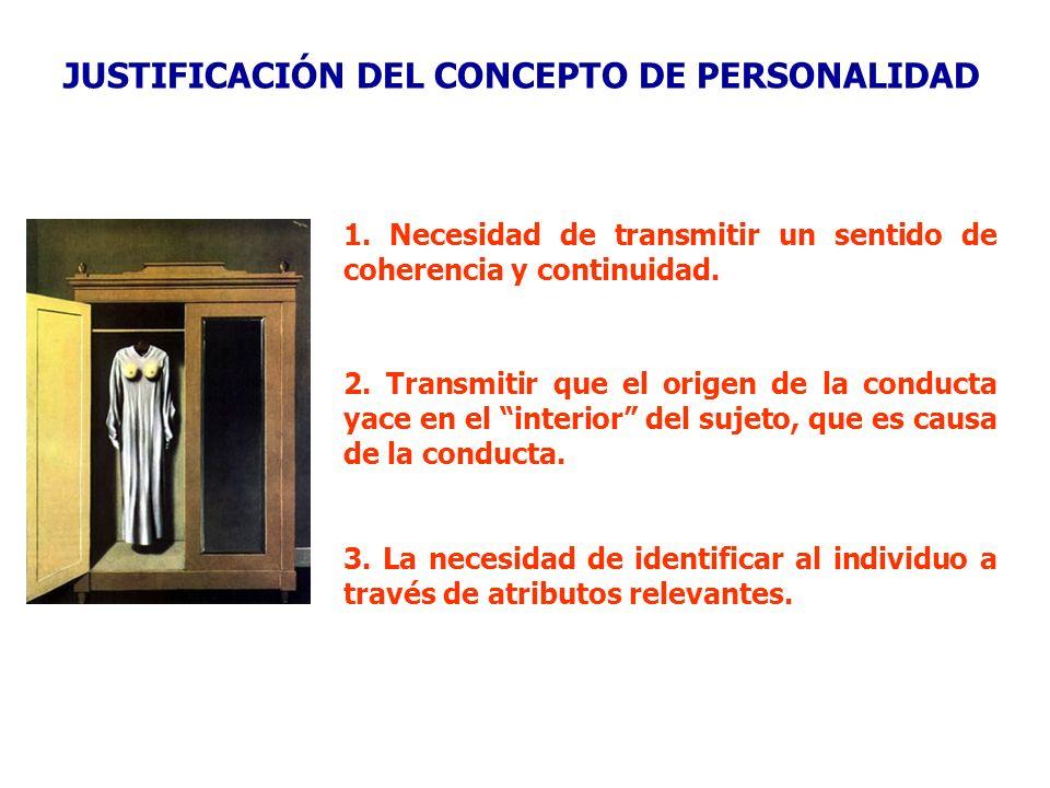 JUSTIFICACIÓN DEL CONCEPTO DE PERSONALIDAD