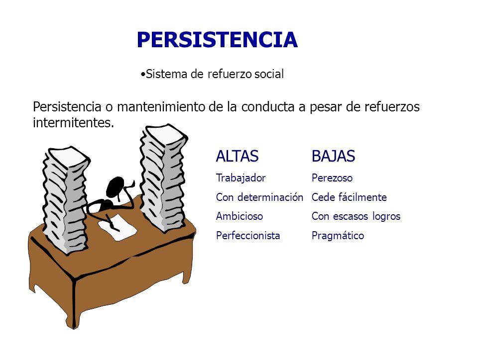 PERSISTENCIA ALTAS BAJAS