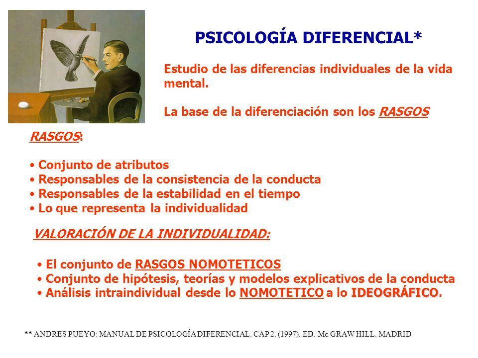 PSICOLOGÍA DIFERENCIAL*