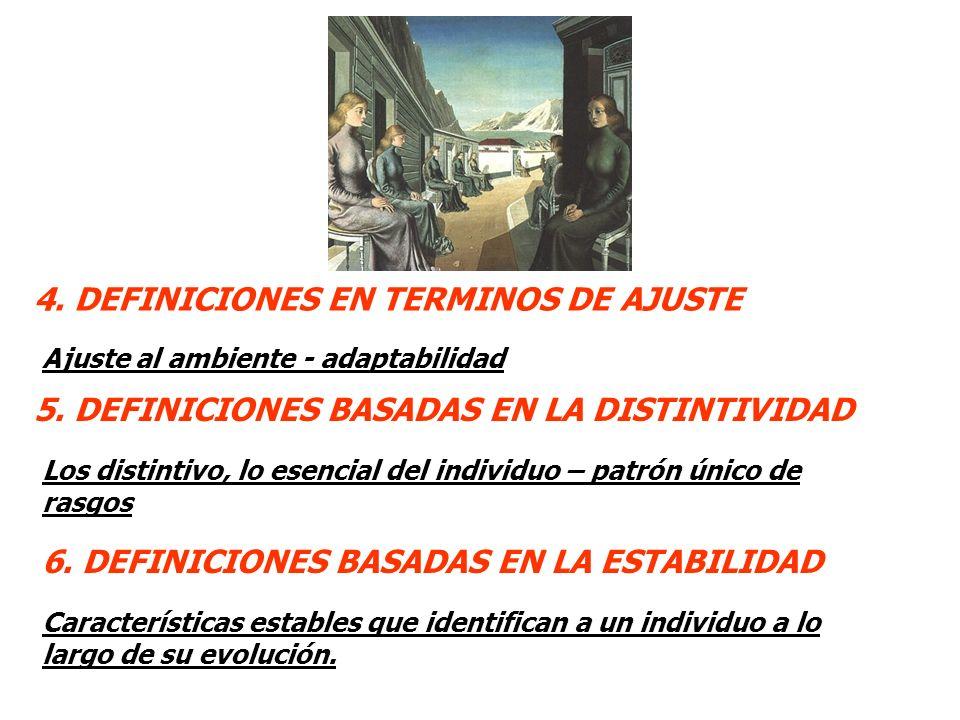 4. DEFINICIONES EN TERMINOS DE AJUSTE