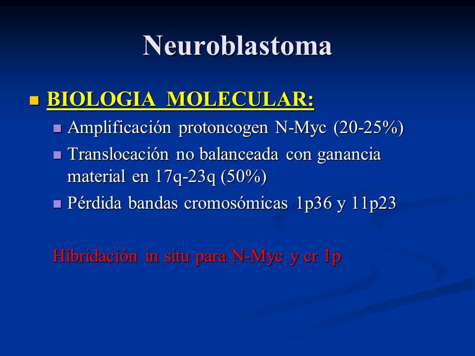 Neuroblastoma BIOLOGIA MOLECULAR: