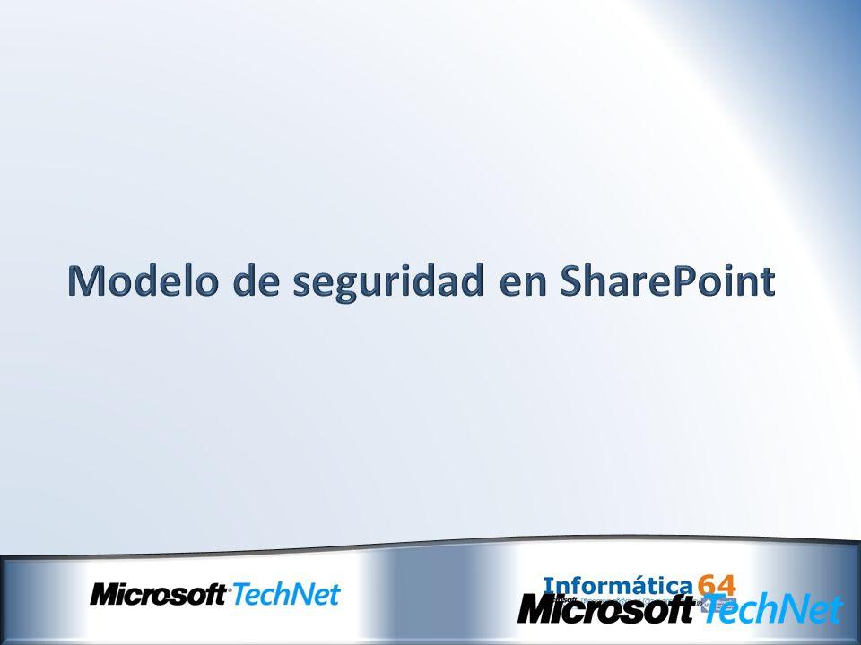 Modelo de seguridad en SharePoint