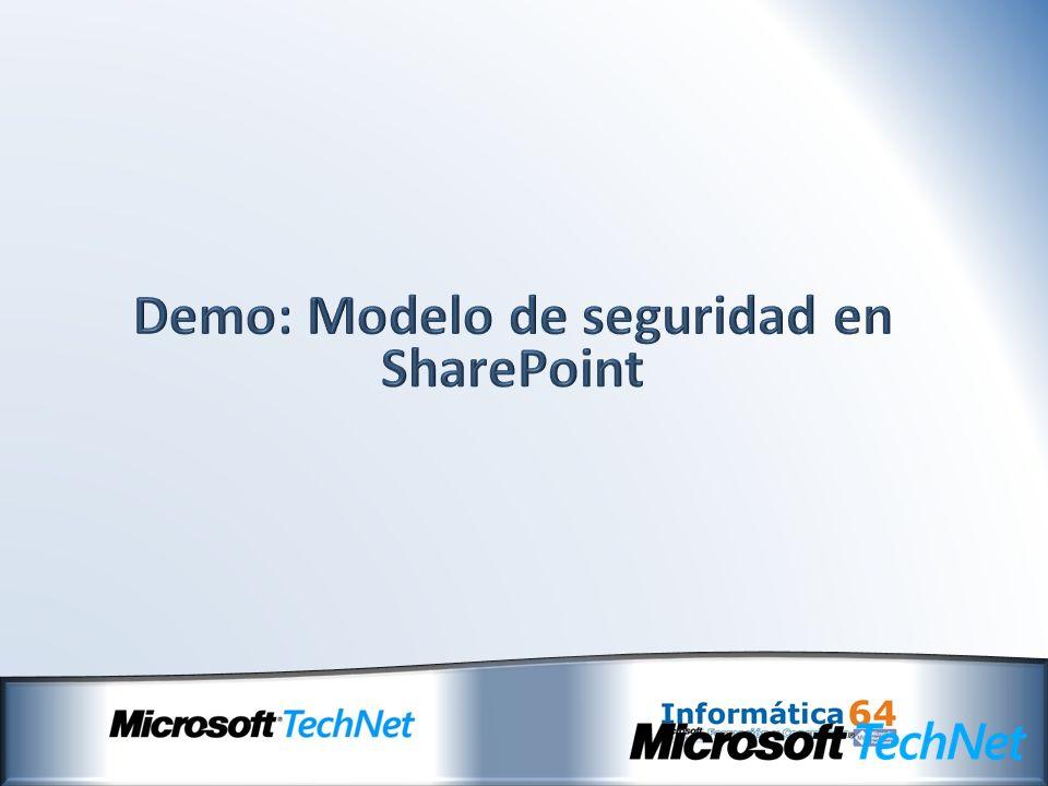 Demo: Modelo de seguridad en SharePoint