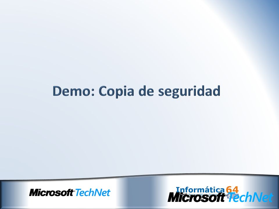 Demo: Copia de seguridad