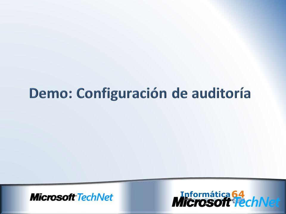 Demo: Configuración de auditoría