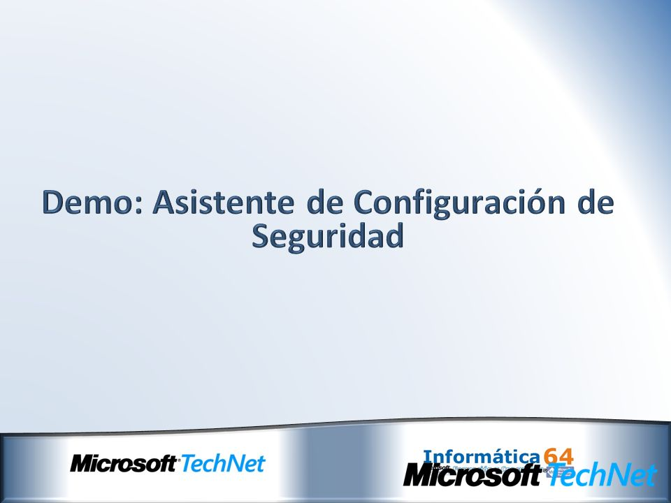 Demo: Asistente de Configuración de Seguridad