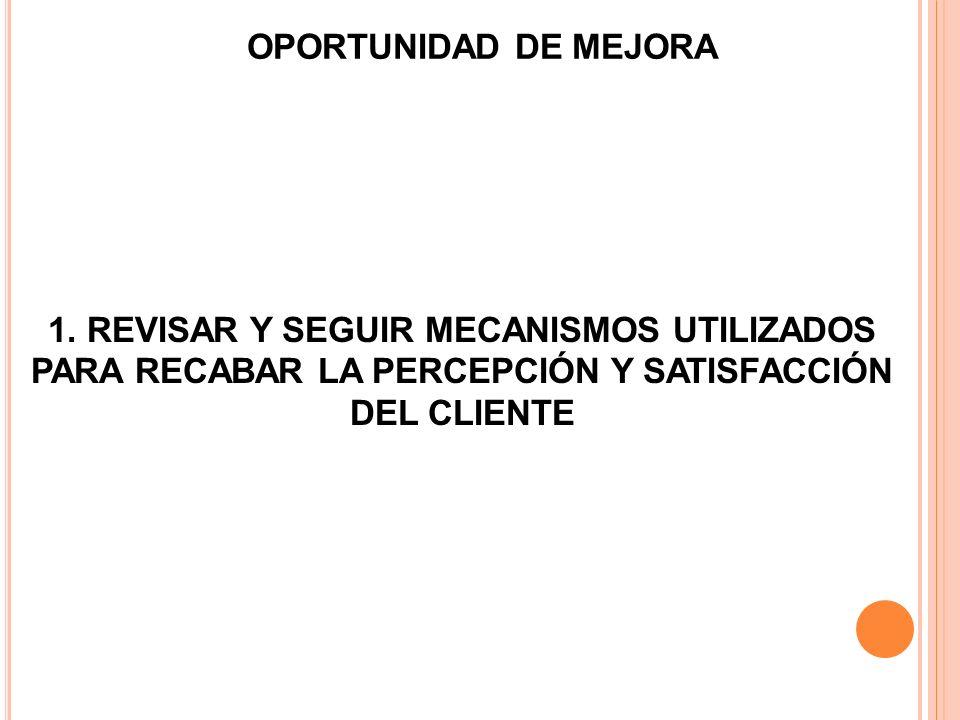 1. REVISAR Y SEGUIR MECANISMOS UTILIZADOS