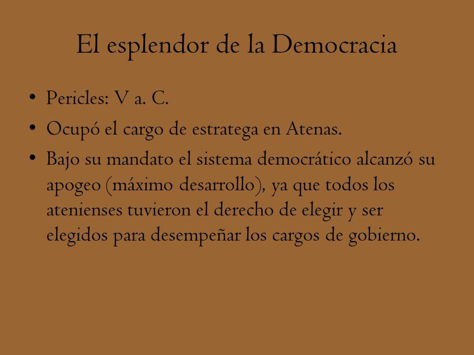 El esplendor de la Democracia