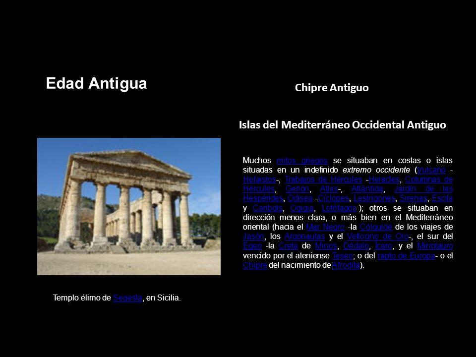 Edad Antigua Chipre Antiguo Islas del Mediterráneo Occidental Antiguo