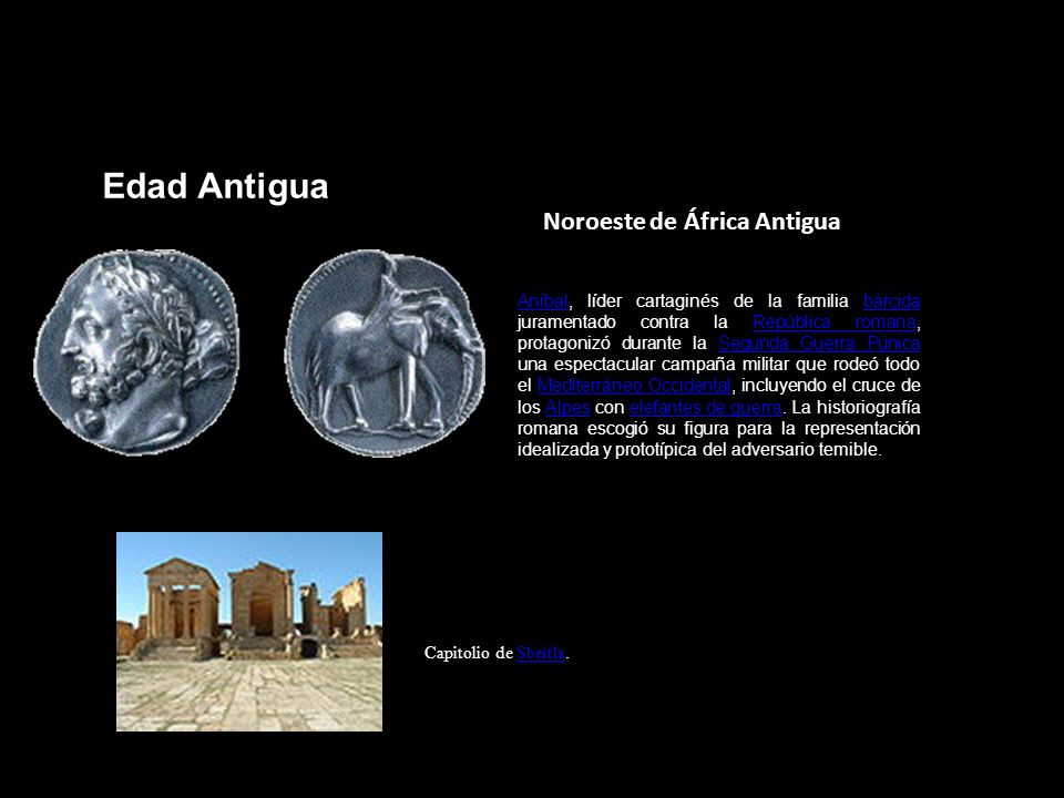 Edad Antigua Noroeste de África Antigua