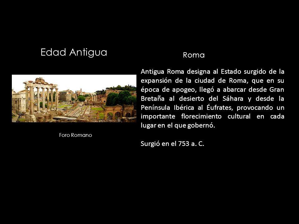 Edad Antigua Roma.