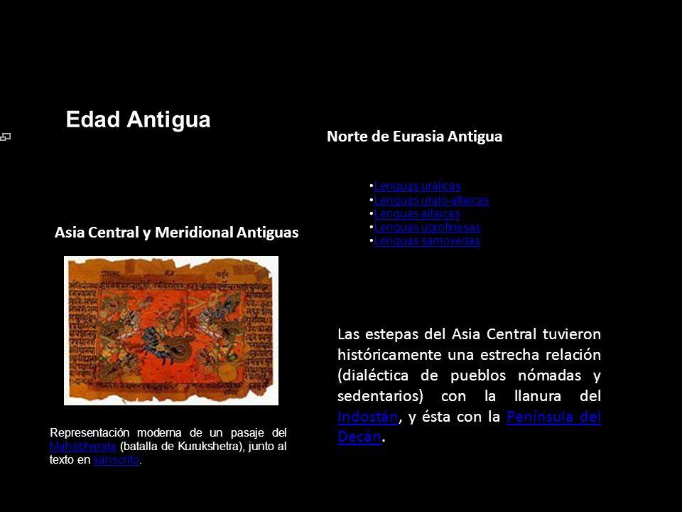 Edad Antigua Norte de Eurasia Antigua
