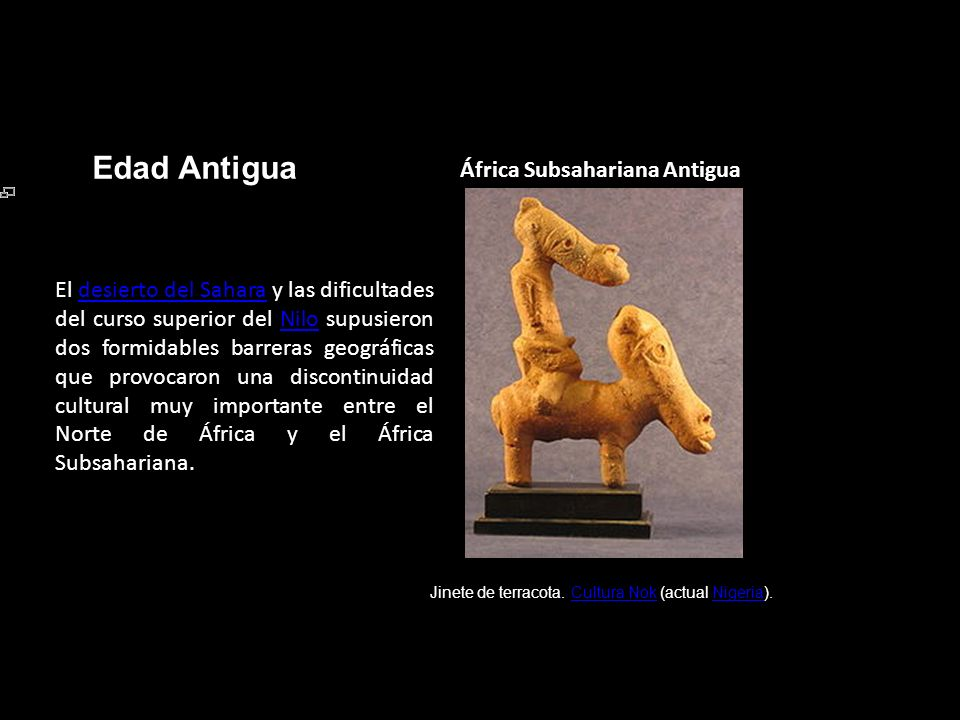 Edad Antigua África Subsahariana Antigua