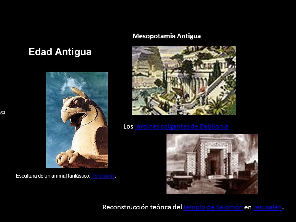 Edad Antigua Mesopotamia Antigua Los jardines colgantes de Babilonia