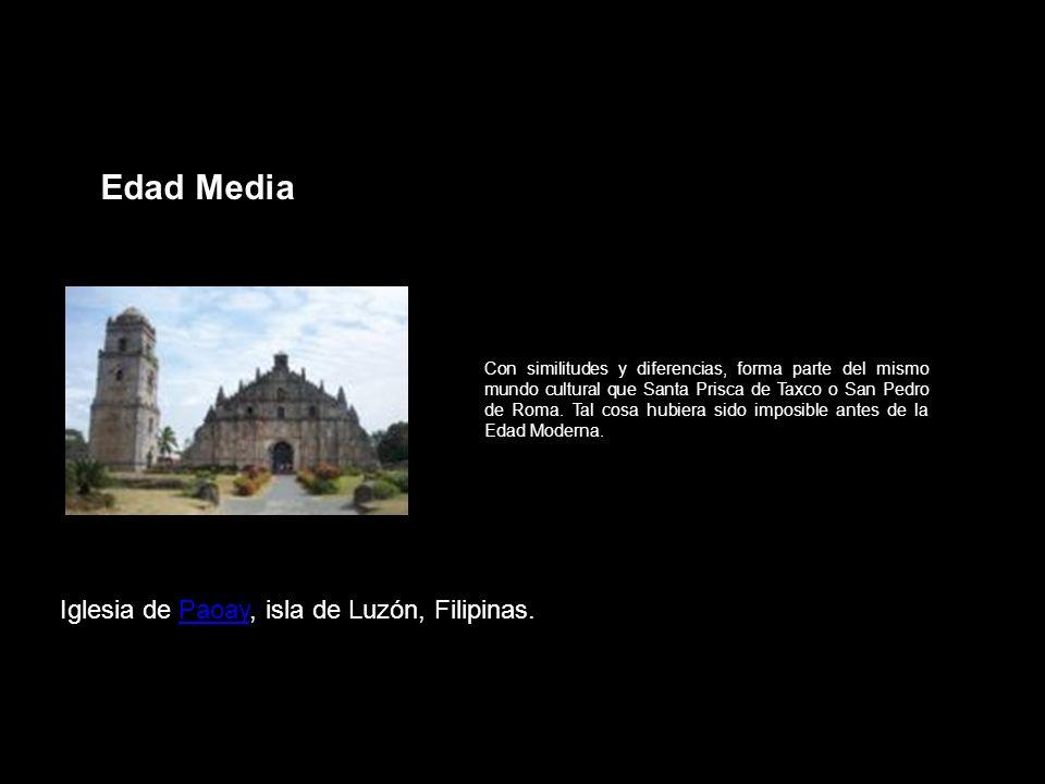 Edad Media Iglesia de Paoay, isla de Luzón, Filipinas.
