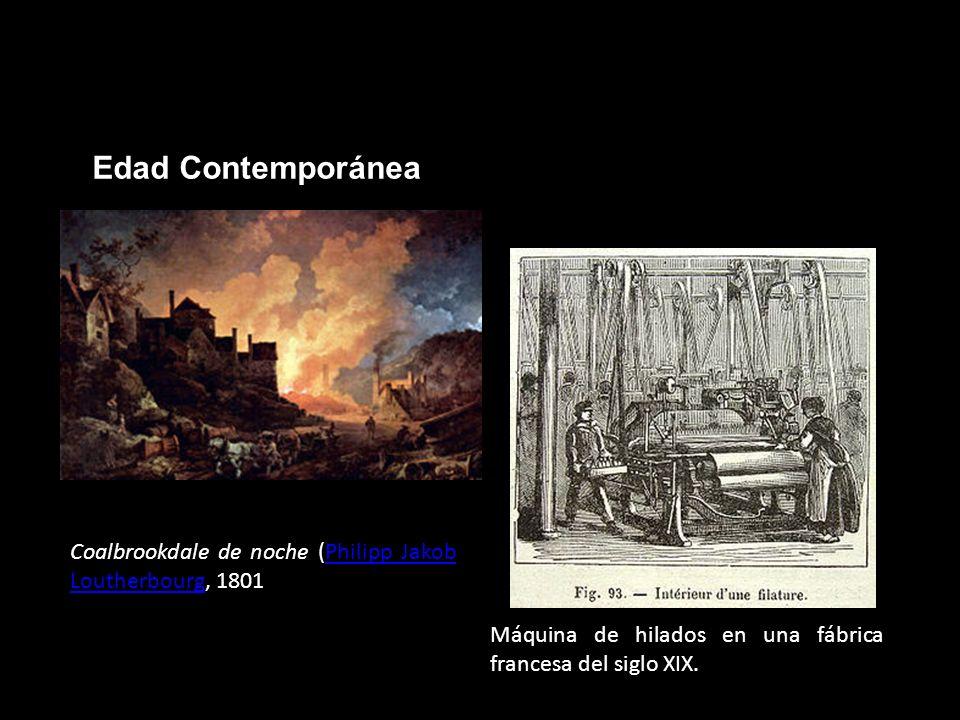 Edad ContemporáneaCoalbrookdale de noche (Philipp Jakob Loutherbourg, 1801.
