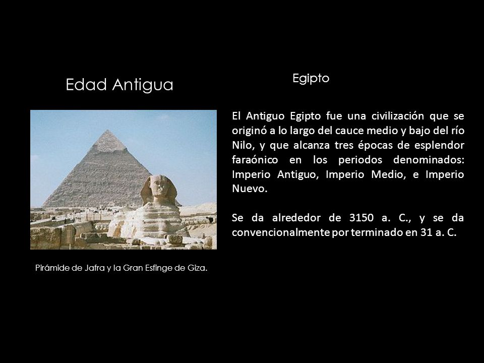 Egipto Edad Antigua.