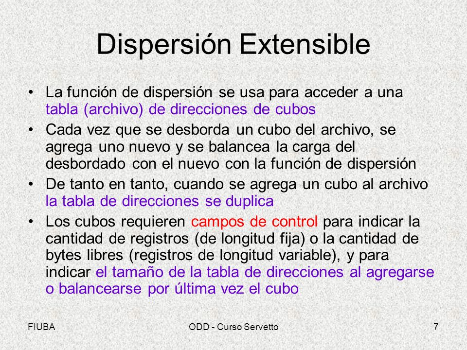 Dispersión Extensible