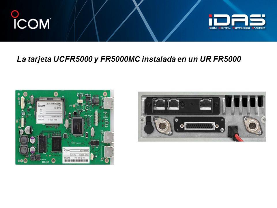 La tarjeta UCFR5000 y FR5000MC instalada en un UR FR5000