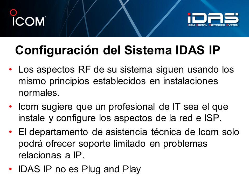 Configuración del Sistema IDAS IP