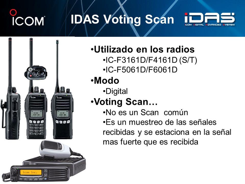 IDAS Voting Scan Utilizado en los radios Modo Voting Scan…