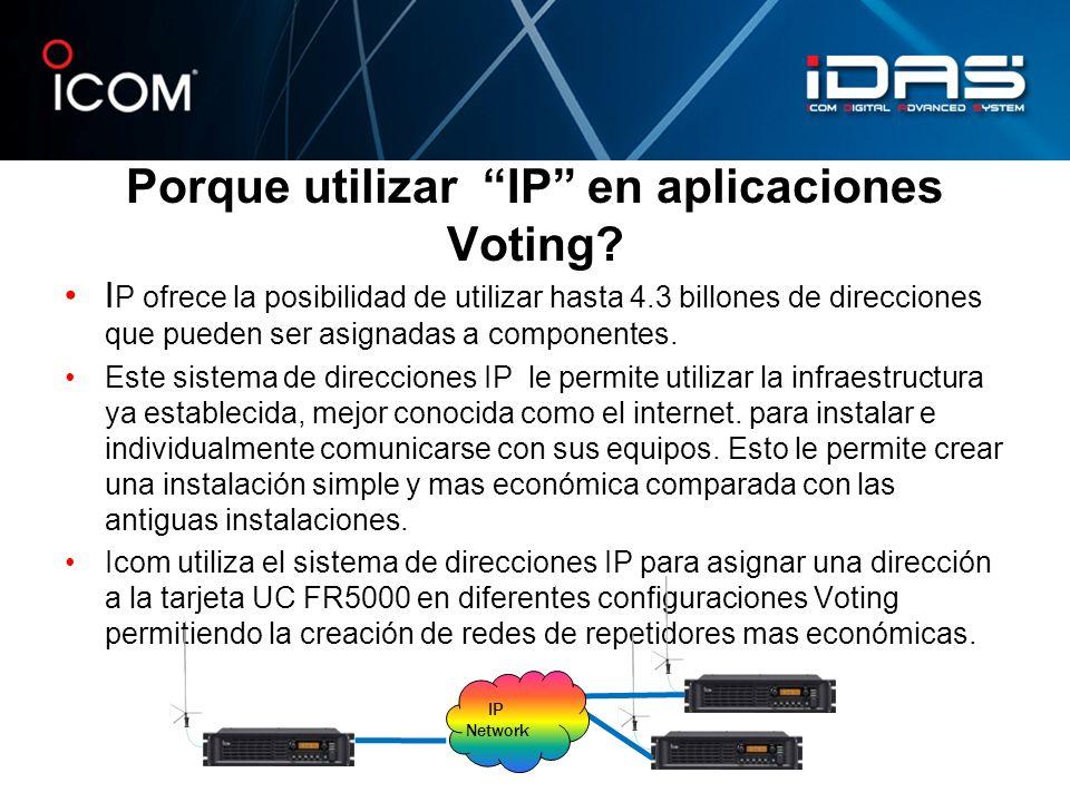 Porque utilizar IP en aplicaciones Voting